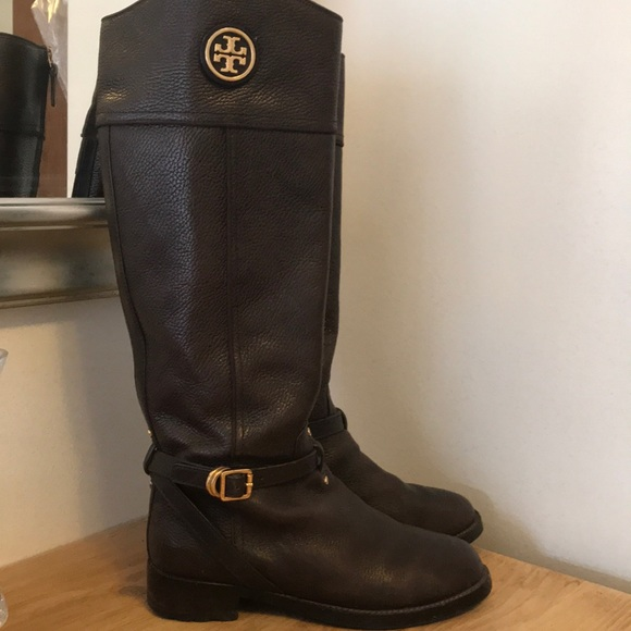 7a3ba7c95ea5 Tory Burch Brown leather riding boots size 8.5